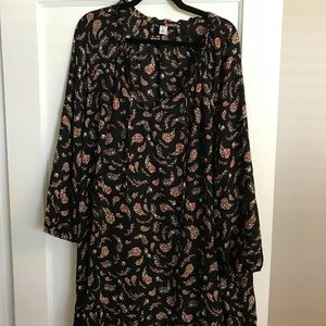 NWT Old Navy 2XL dress black with flower print